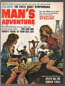 Man's Adventure 11/1964-Nazi torture cover-bondage-cheesecake pix-FN+