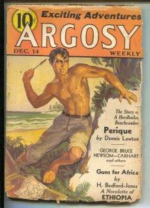 Argosy 12/12/1935-Munsey-pulp stories-H Bedford-Jones-George Bruce-Dennis Law...