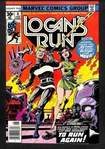 Logan's Run #6 NM- 9.2 1st Solo Thanos!