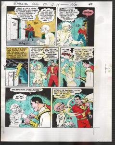 Hand Painted Color Guide-Capt Marvel-Shazam-C35-1975-DC-page 40-Batson-VG/FN