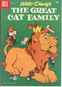 GREAT CAT FAMILY F.C. 750 VG 1956 COMICS BOOK