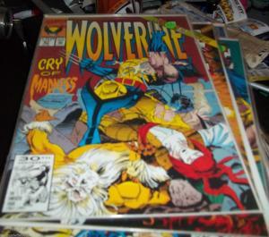 WOLVERINE #51 MARVEL 1992   MySTIQUE + xmen   old man logan KUBERT COVER