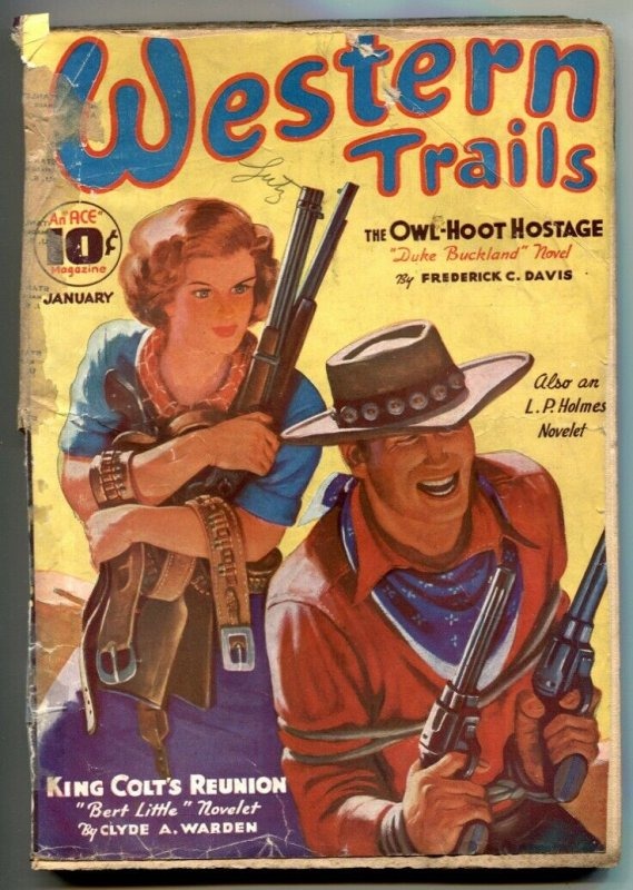 Western Trails Pulp January 1937- Owl-Hoot Hostage G