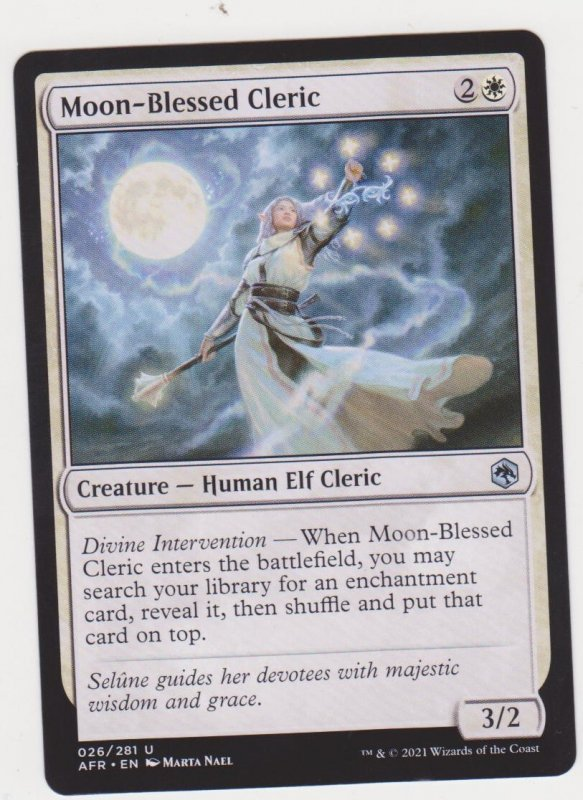 Magic the Gathering: Adventures in the Forgotten Realms - Moon-Blessed Cleric