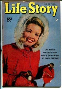 Life Story #10 1950-Fawcett-lingerie-headlights-snow ski-swimsuit-VG+