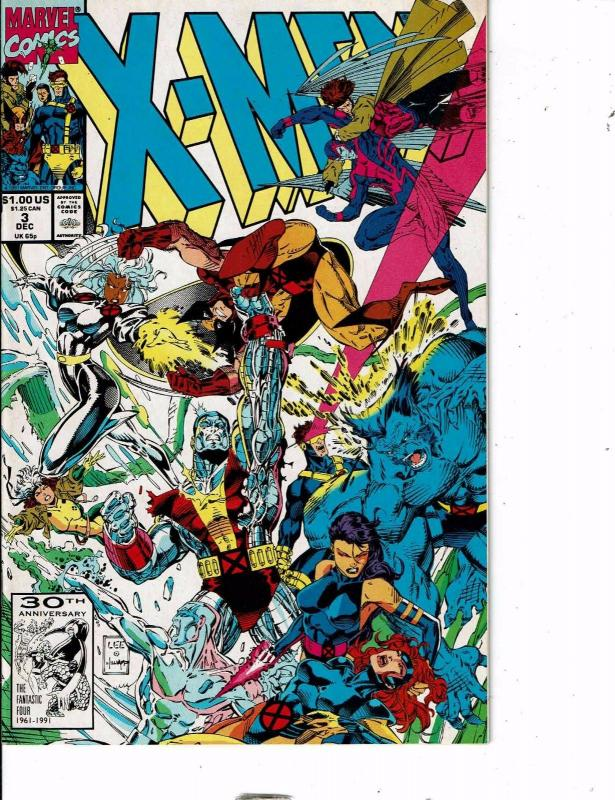 Lot Of 7 X-Men Marvel Comic Book #3 6 25 44 55 56 Manga AB5