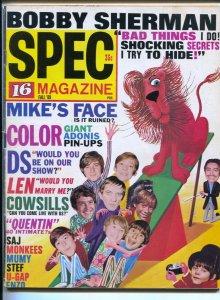 Spec #19 Fall 1969-16 Magazine-Dark Shadows-Billy Mumy-Kurt Russell-Monkees-r...
