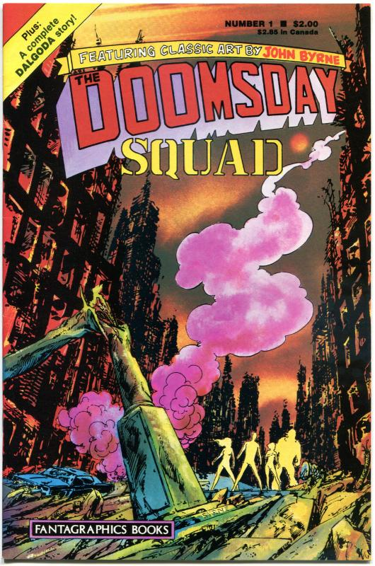 DOOMSDAY SQUAD  #1 2 3 4 5 6, VF/NM, 1986,  6 issues, John Byrne,Fantagraphics