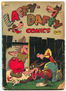 Laffy-Daffy #1 1945-Golden Age Funny Animals G