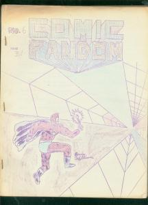 COMIC FANDOM FANZINE #6-MORE FUN COMICS-PRINT RUN of 50 VG