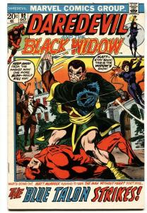 DAREDEVIL #92 1972-MARVEL COMICS-BLACK WIDOW VF-