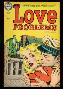 LOVE PROBLEMS #30 1954-GOOD GIRL ART-GLOSSY COVER-HARVE FN