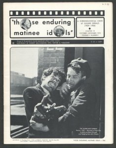Those Enduring Matinee Idols #19 10/1972-Movie serial fanzine-Film images-art...