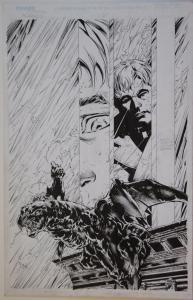 CLARENCE JONES / VICTOR LLAMAS original art, DARKNESS #30 pg 4, 11x17, 1996
