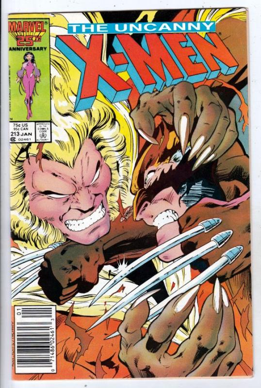 X-Men #213 (Jan-87) VF/NM High-Grade X-Men