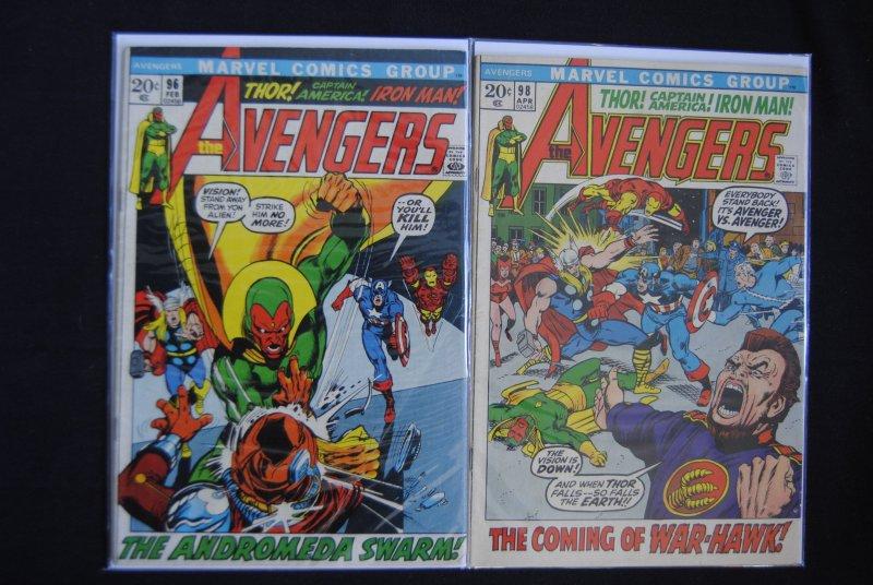 Avengers 96, 98  2 Book Lot