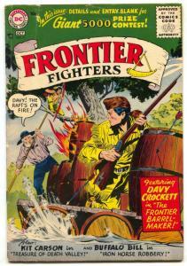 Frontier Fighters #7 1956-DAVY CROCKETT-BUFFALO BILL- vg+
