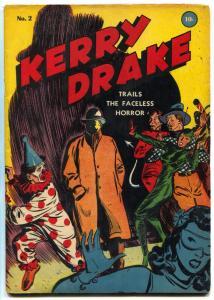 Kerry Drake Comics #2 1944- Clown cover- Golden Age Crime FN-
