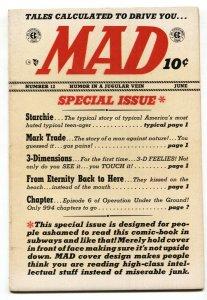 MAD #11 1954-EC-Wally Wood-Will Elder-Archie-Mark trail-Davis-Krigstein-FN