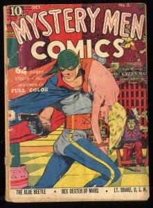 Mystery Men Comics #3 P 0.5 Lou Fine Cover! Blue Beetle!