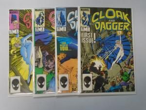 Cloak and Dagger run #1 to #4 - 2nd Second Series - 8.0 - 1985