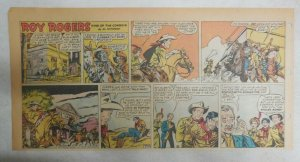 Roy Rogers Sunday Page by Al McKimson from 8/19/1956 Size 7.5 x 15 inches