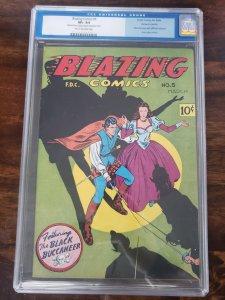 Blazing Comics 5 CGC 8.5 (manufactured with interior of Captain Marvel 128)