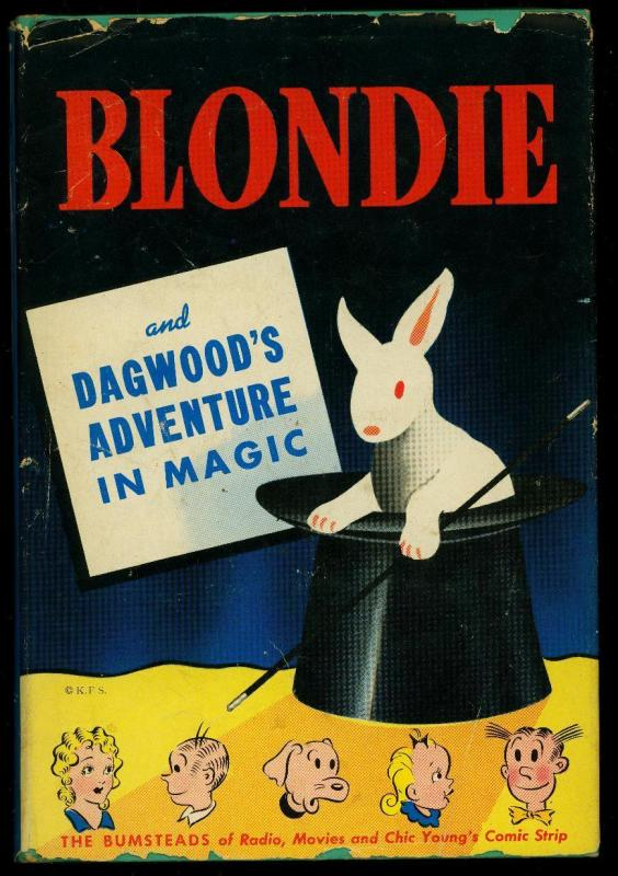 Blondie and Dagwood's Adventure in Magic w/ dust jacket Whitman #2300