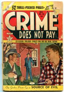 Crime Does Not Pay #94 1950- Chip Gardner- Painted cover FAIR