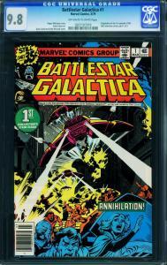 Battlestar Gallactica #1 cgc 9.8 Ow/w-nm-high Grade Marvel 0207107019