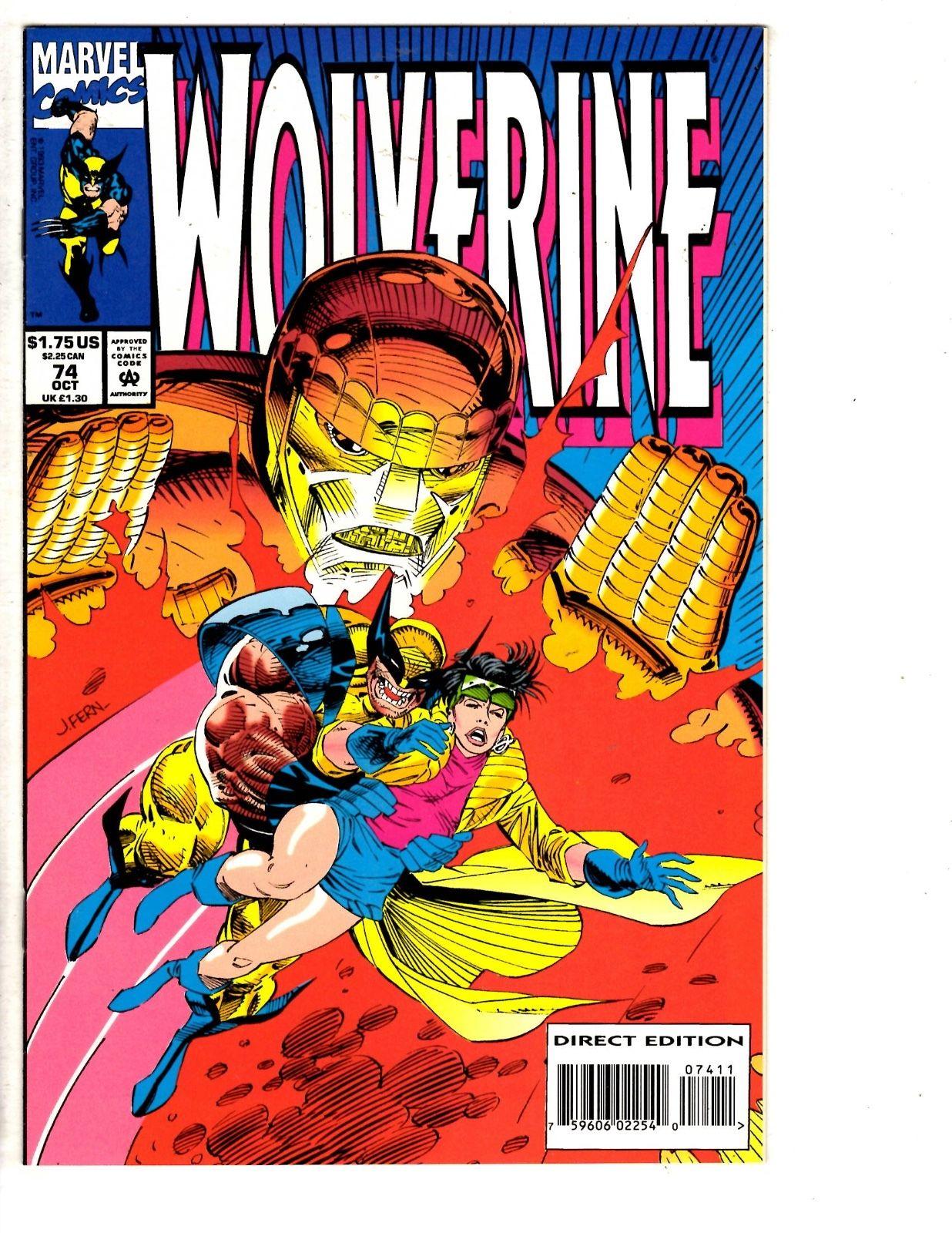 Wolverine 1988 series # 74 very fine comic book