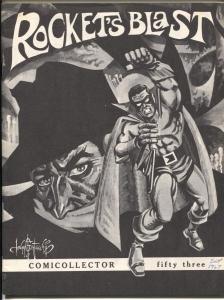 Rocket's Blast Comicollector  #53 1967-Shadow cover-early fanzine-buy / sell ads