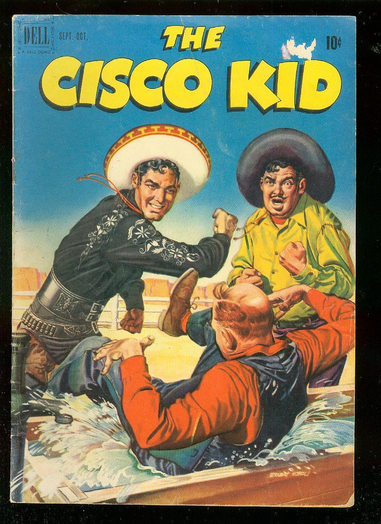 THE CISCO KID 5 1951 DELL COMICS WESTERN D RENALDO TV VG HipComic