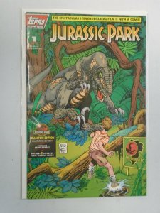 Jurassic Park #1 8.0 VF Un-polybagged (1993 Topps)
