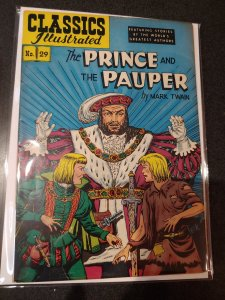 CLASSIC ILLUSTRATED #29 THE PRINCE AND THE PAUPER GOLDEN AGE VF