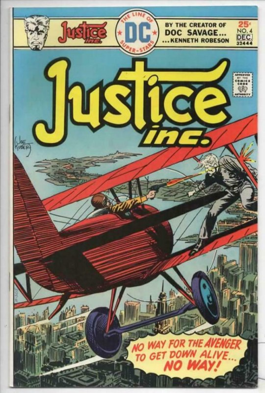 JUSTICE INC #4 VF/NM Jack Kirby Joe Kurbet Slay Ride 1975 more in store
