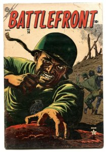Battlefront #14 1953- Russ Heath- Atlas War comic G/VG