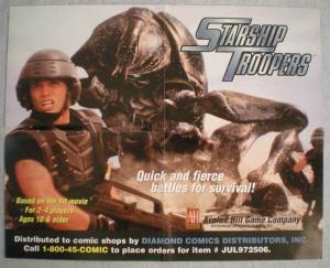 STARSHIP TROOPERS Promo poster,Movie, 21x17, Unused, more Promos in store