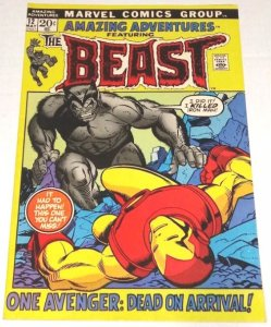 Amazing Adventures #12 (VF/NM) 9.0. 2nd App Furry Beast Bronze Age