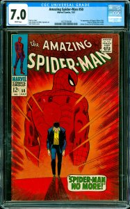 Amazing Spider-Man #50 CGC Graded 7.0 1st appearance of Kingpin (Wilson Fisk)...
