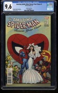 Amazing Spider-Man: Renew Your Vows #1 CGC NM+ 9.6 John Romita Wedding Variant!