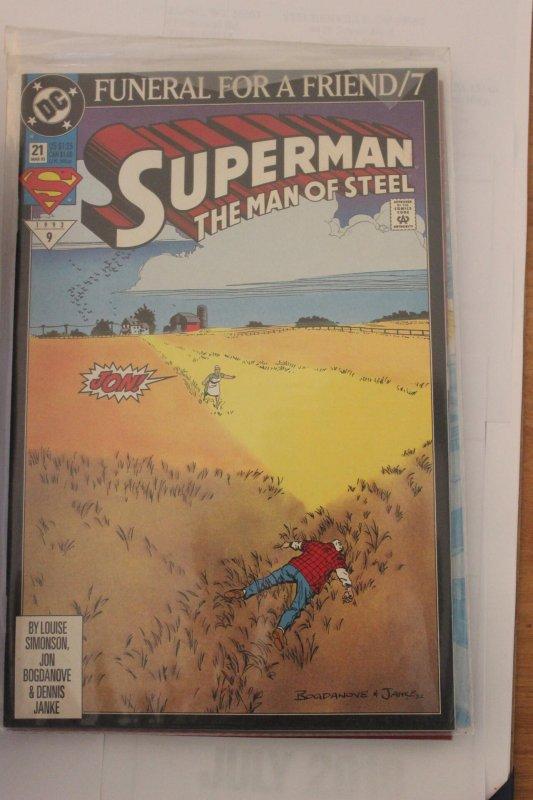Superman the Man of Steel 21 NM