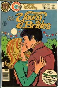 Secret s of Young Brides #9 1976-Charlton-lip lock cover-Frank W Bolle-VF