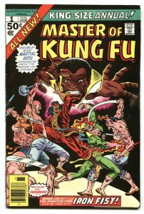 Master of Kung Fu Annual #1 1976 comic book Marvel - VF-