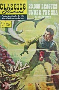Twenty Thousand Leagues Under Sea Classics Illustrated Comic 1964 Silver Age FN