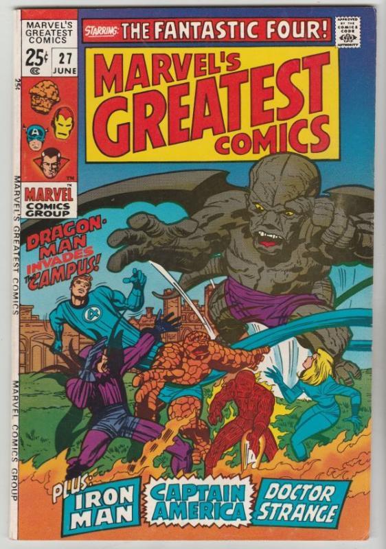 Marvel's Greatest Comics #27 (Jun-70) NM/NM- High-Grade Fantastic Four, Capta...