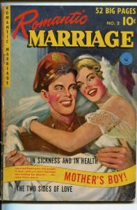 ROMANTIC MARRIAGE #2 1950-ZIFF-DAVIS-PAINTED COVER-GOOD GIRL ART-good