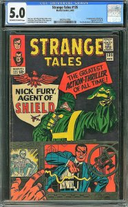 Strange Tales #135 (Marvel, 1965) CGC 5.0 - KEY 1st Nick Fury
