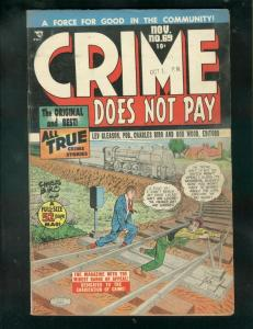 CRIME DOES NOT PAY #69 1948-CHARLES BIRO-NORMAN MAURER! VG