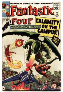 FANTASTIC FOUR #35 comic book 1965-FIRST DRAGON MAN KIRBY